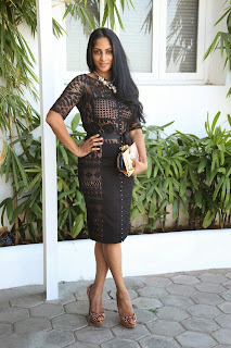 Sriya Reddy Latest  Pictures in Short Dress at Maga Maharaju Audio Launch