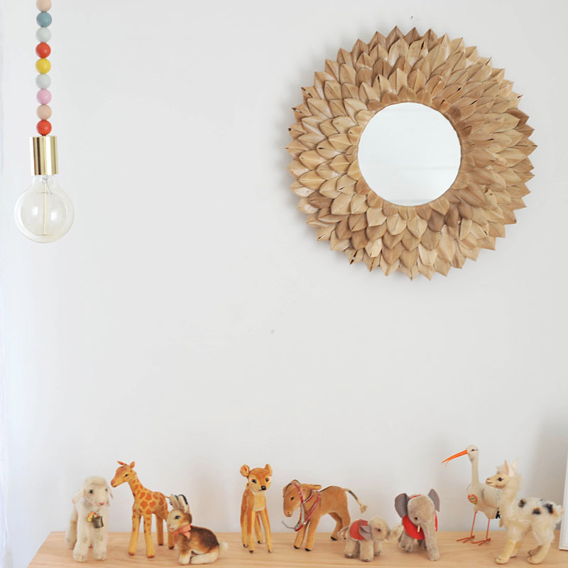 DIY Wooden Bead Pendant Light Modern Nursery