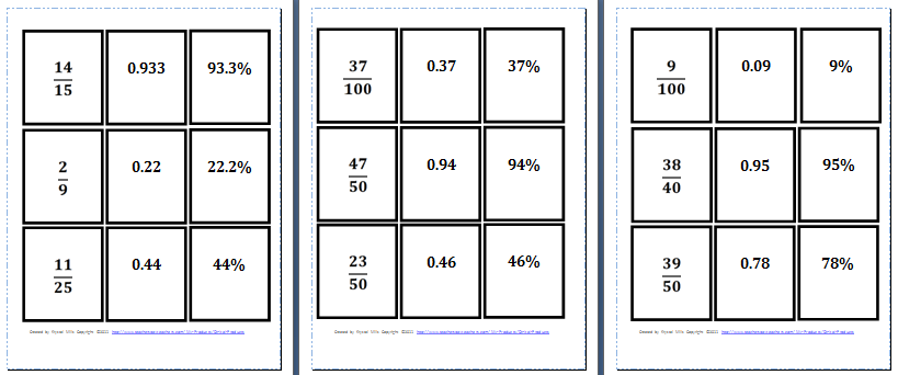 Worksheet Fractions Percentages and Decimals Worksheets – Equivalent Fractions and Decimals Worksheets
