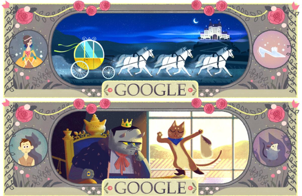 Charles Perrault Hari Lahir yang ke-388 Tema Google Doodle Hari Ini
