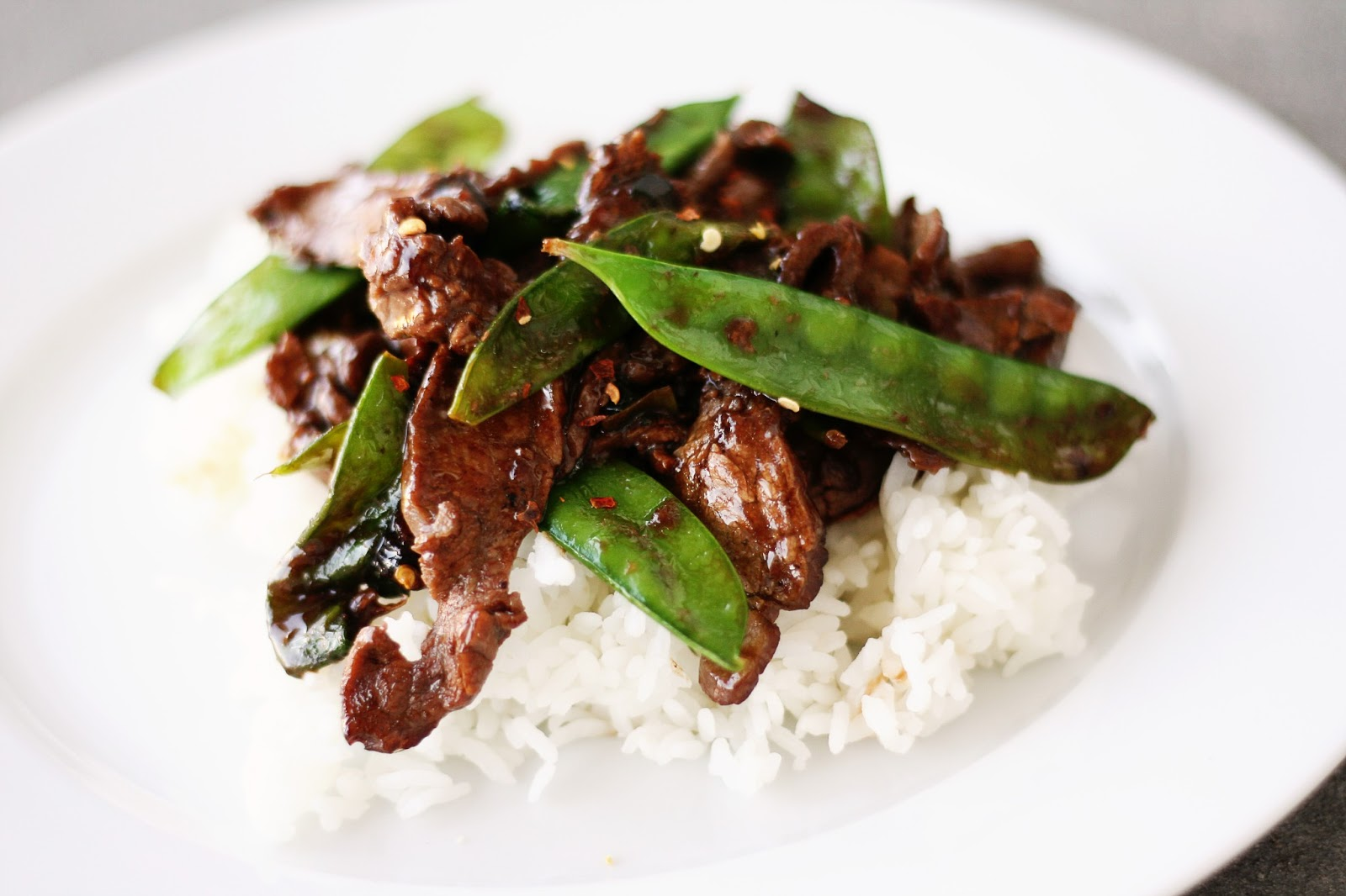 Naughty Carbs: Asian Beef with Snow Peas (Low Carb/Low Fat)