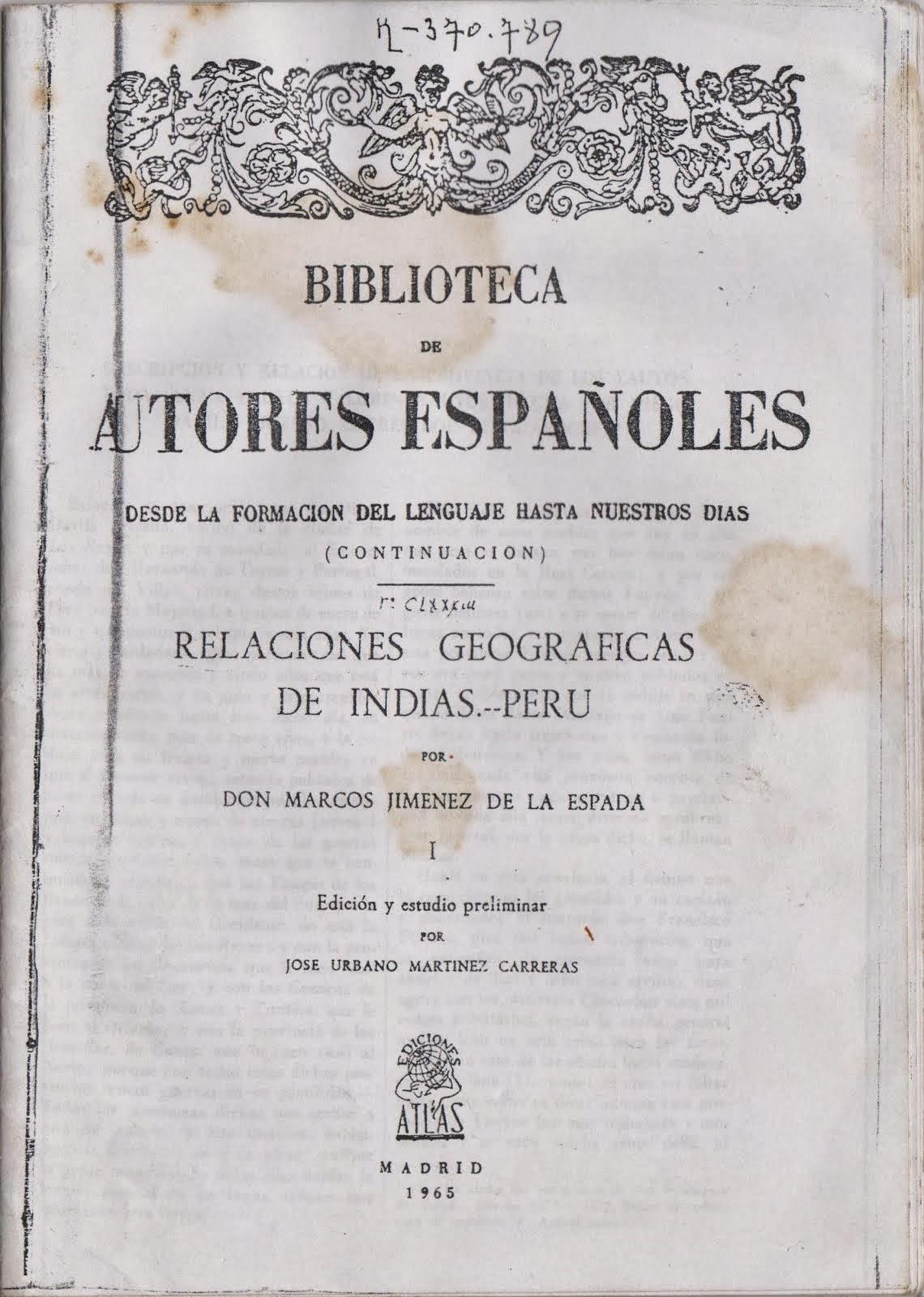 ESTE LIBRO CONTIENE LA FUNDACIÓN DE HUÁÑEC