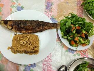 Recette du repas de poisson Puri égyptienne