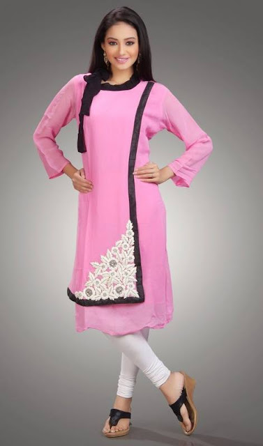 Stylish Tops, Kurti For Girls, Pink Stylish Kurti, Latest Kurti Designs, Summer Wear Kurtis.