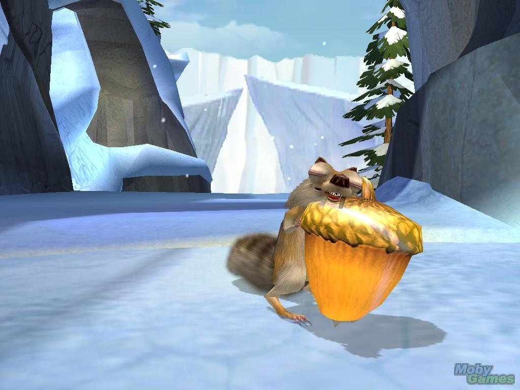 Scrat alone in the wilderness with his nut in Ice Age: The Meltdown disneyjuniorblog.blogspot.com