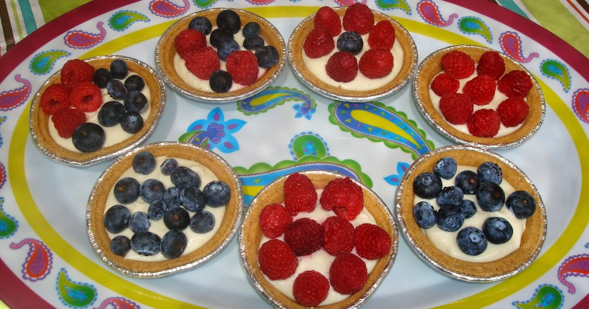 Mocha Me No Bake Blueberry Cheesecake Tarts