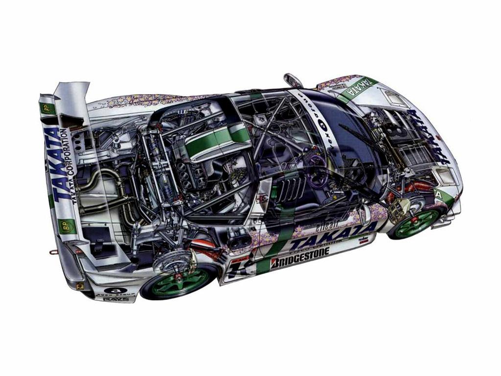 Honda NSX japoński supercar sportowy samochód kultowy V6 RWD VTEC wyścigi racing JGTC Super GT