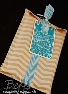 Chalk Talk Gift Bag by Stampin' Up! Demonstrator Bekka Prideaux - inside is a gift for her Party Hostesses - I wonder what it could be...