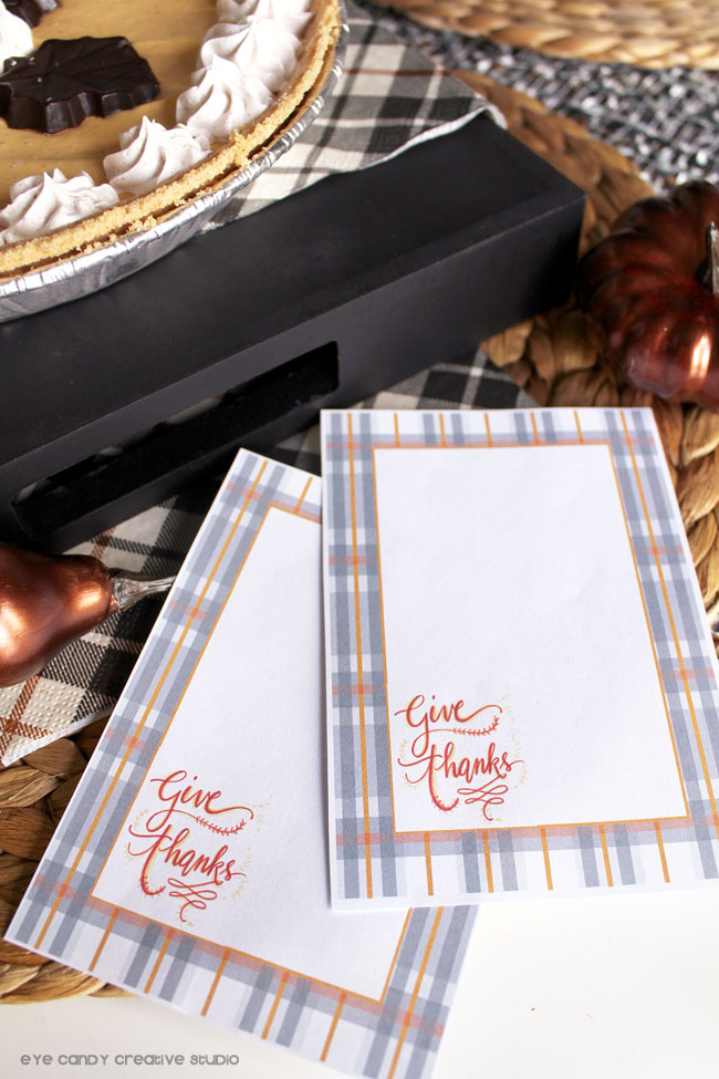 free download, free thanksgiving cards, give thanks, plaid thanksgiving