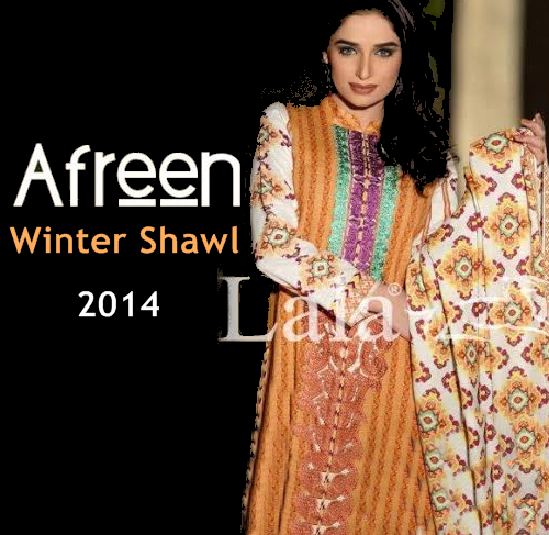Afreen By Lala Shawl Collection 2014-15
