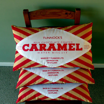 New Cushions: Caramel Wafers