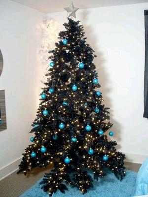 Arboles de navidad color azul parte 1 - Como decorar un arbol de navidad azul ...