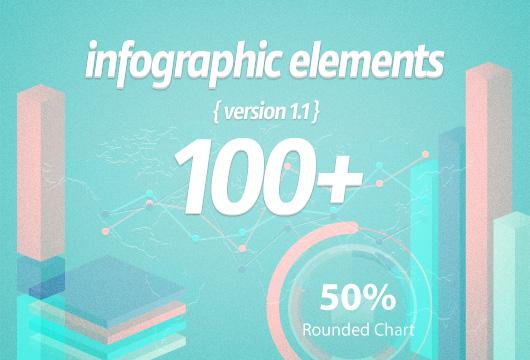 100 elementos para infografia en vectores