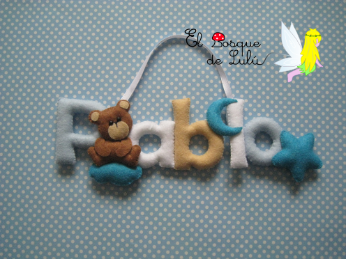 nombre-decorativo-fieltro-decoración-infantil-regalo-personalizado-ositos