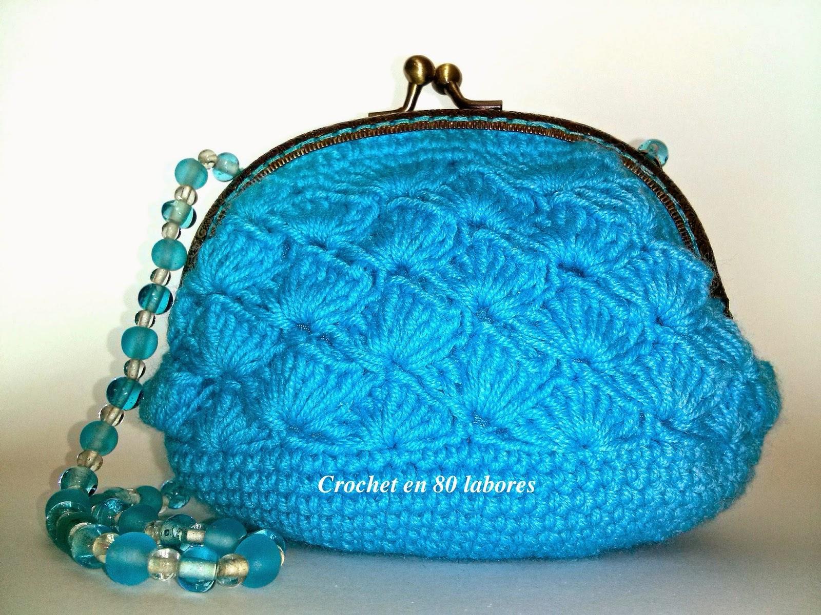Monedero Ganchillo Boquilla Ovalada Of Crochet En 80 Labores Un Monedero De Fiesta De Ganchillo