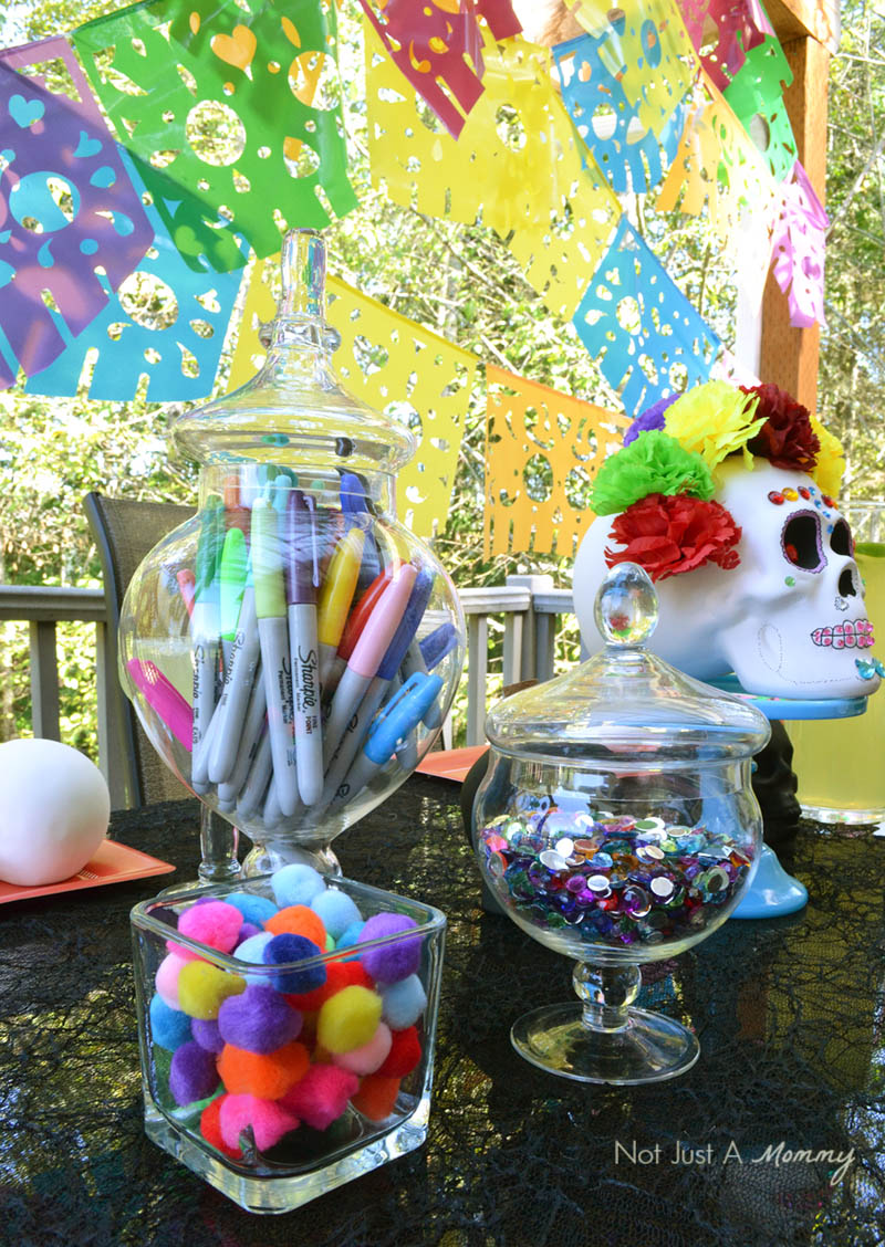 Día De Los Muertos Crafternoon Party calavera decorating supplies
