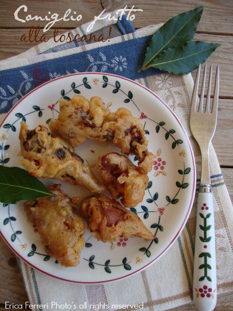 Ricetta toscana tradizionale coniglio fritto