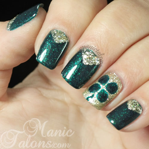 St. Patrick's Day Gel Polish Nail Art