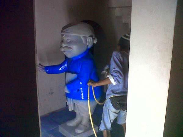pembuatan patung maskot jawa