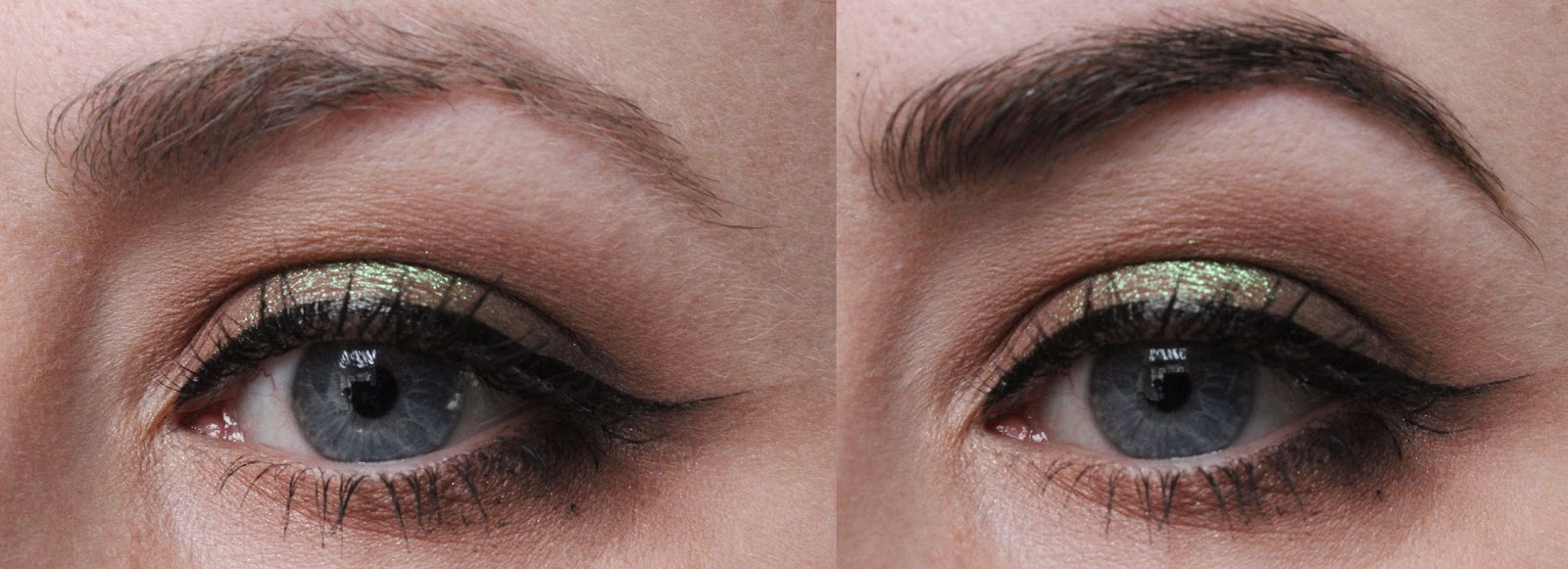 The difference eye brow grooming makes