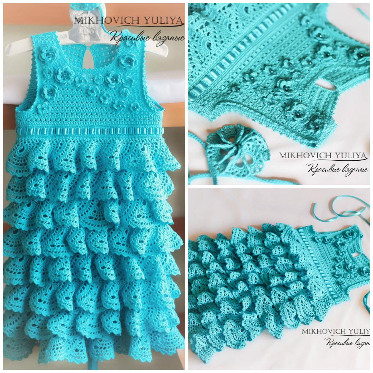 Вязать платье с воланами