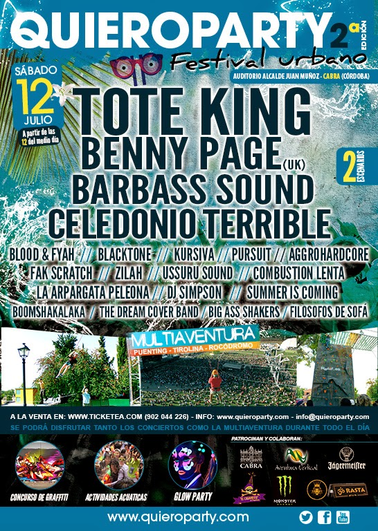 QUIERO PARTY FESTIVAL 2º Edición Tote King, Benny Page, Barbass Sound