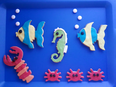 Galleta animales mar