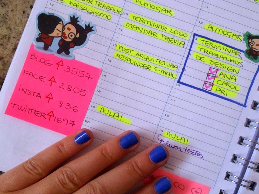 Agenda do blog