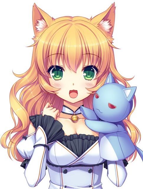 anime nekomimi,anime girl,sayori