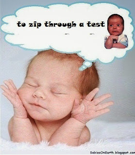 to zip through a test