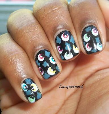 Eyeball Kimono Nail Art