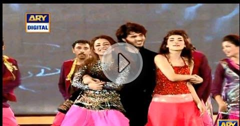 ahsan khan, ushna shah & urwa hussain performance at ary