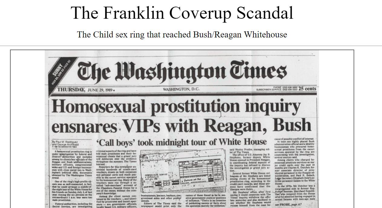 Reagan bush sex