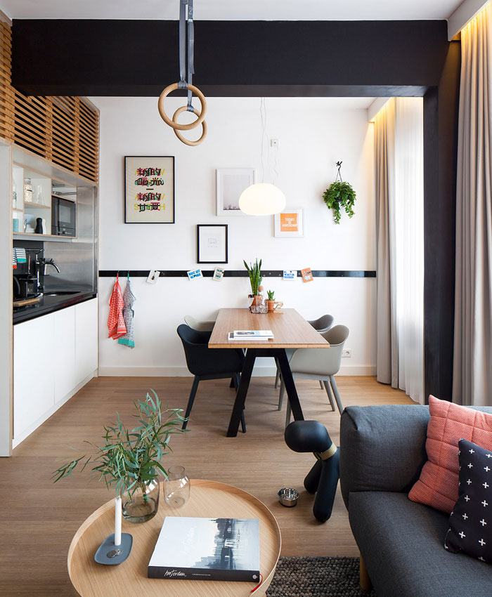 Bata ringan type aac modern small studio apartment design for Modern studio apartment design