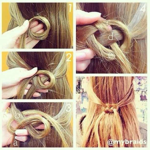 Причёска с узлами пошаговое