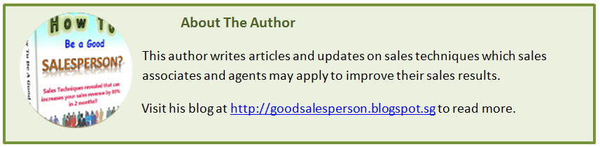 How to be a good Sales Person author profile