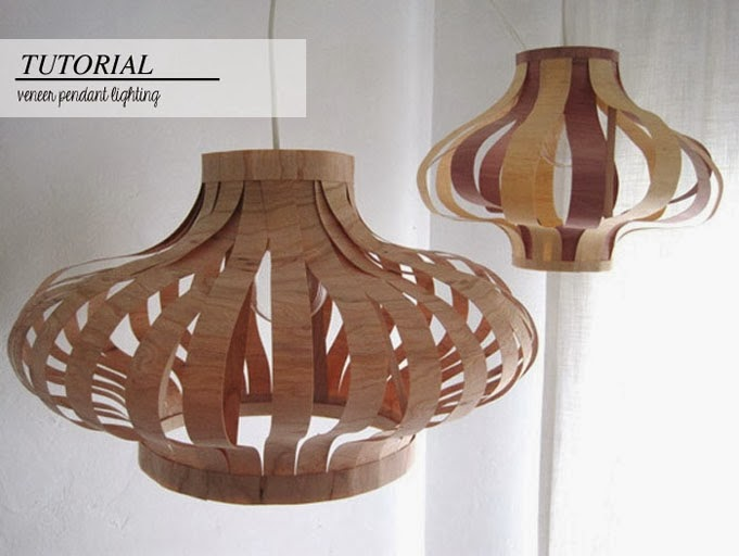 DIY lamp with wood veneer