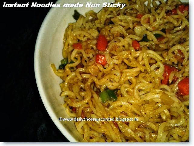 Instant Noodles Made Non Sticky This Way