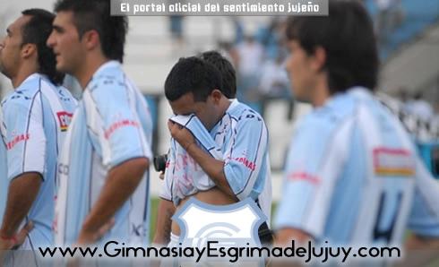 Jorge Luna llora. Gimnasia de Jujuy