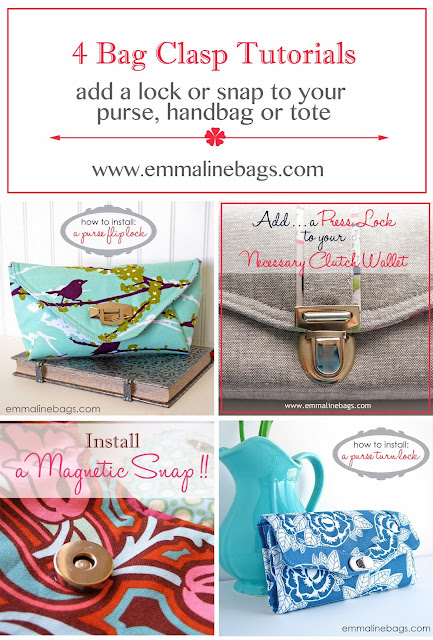 4 Bag Clasp Tutorials - Install Purse Locks
