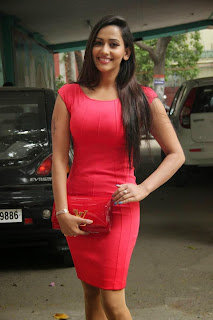 Actress Sanjana Singh  Pictures in Short Dress at Meagamann Movie Success Meet  8