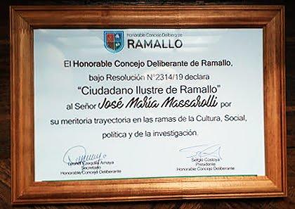Ciudadano Ilustre de Ramallo