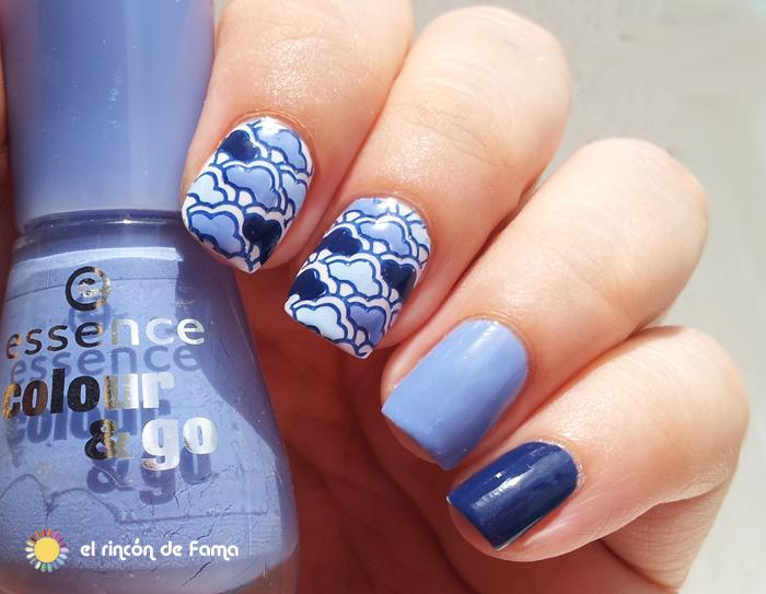 Nubes nail art | el rincon de fama