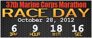 marine corps marathon countdown