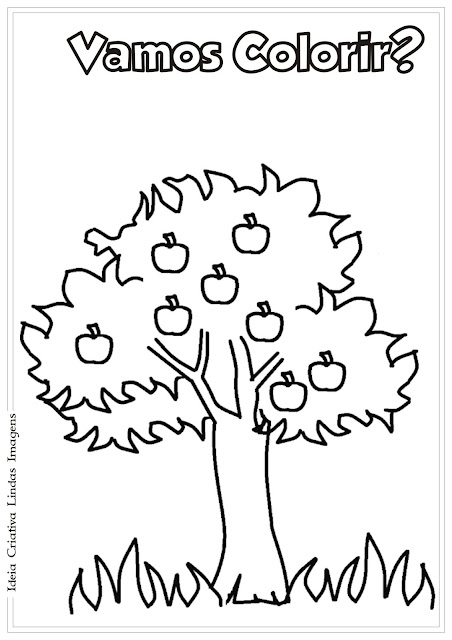 Desenho Dia da Árvore para colorir