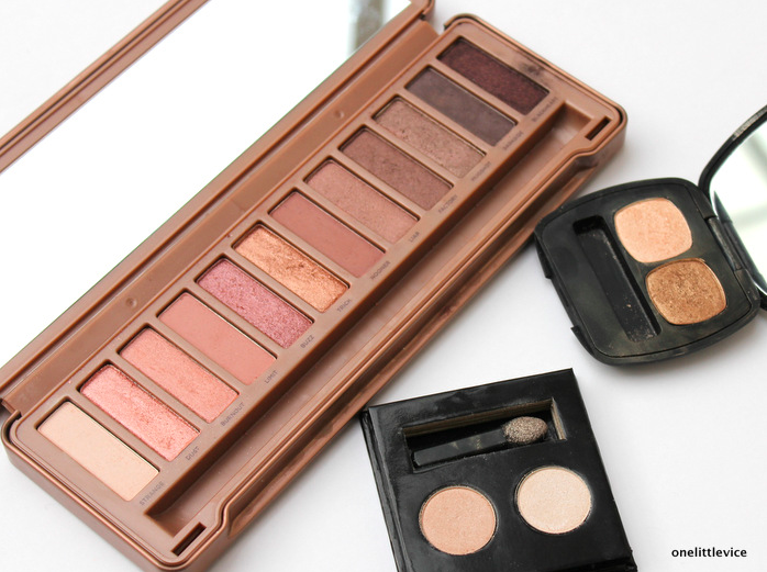 One Little Vice UK Beauty Blog: eyeshadow palettes Green People Bare Minerals Urban Decay