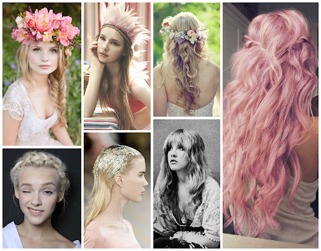 #fekkaitouch, pink hair, heidi braid, hair moodboard, stevie nicks