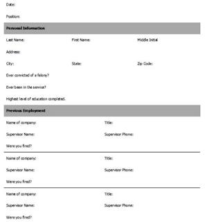 job application form examples 3