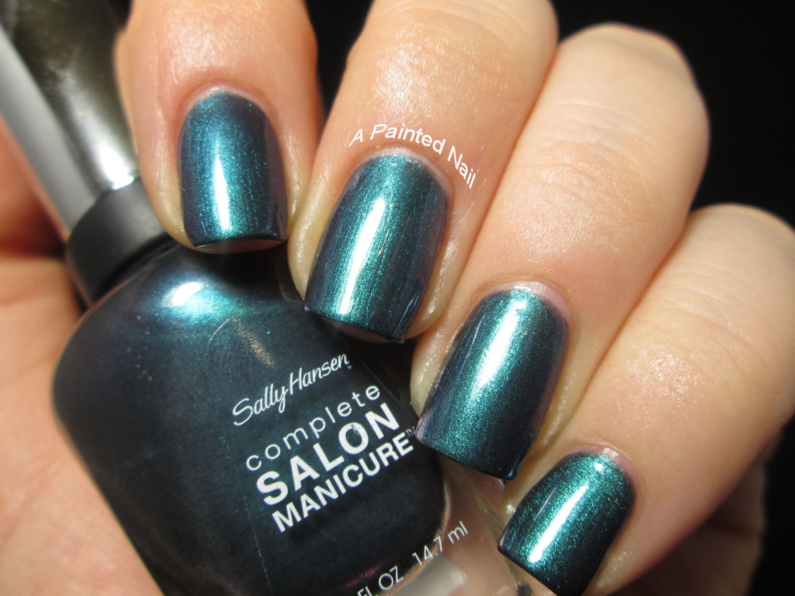 a painted nail: sally hansen complete salon manicure black & blue