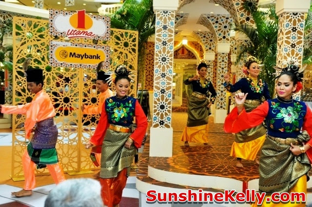 1 Utama, Pillars of Celebration, raya decoration at the mall, performance at the mall, malay traditional dance